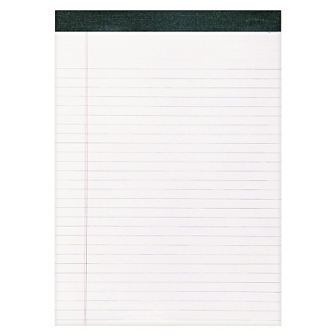Roaring Spring® Recycled Legal Pad, 8 1/2 x 11 3/4 Pad, 8 1/2 x 11 Sheets, 40/Pad, White, Dozen - image 1 of 1