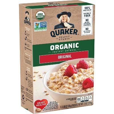 Oatmeal: Quaker Instant Organic