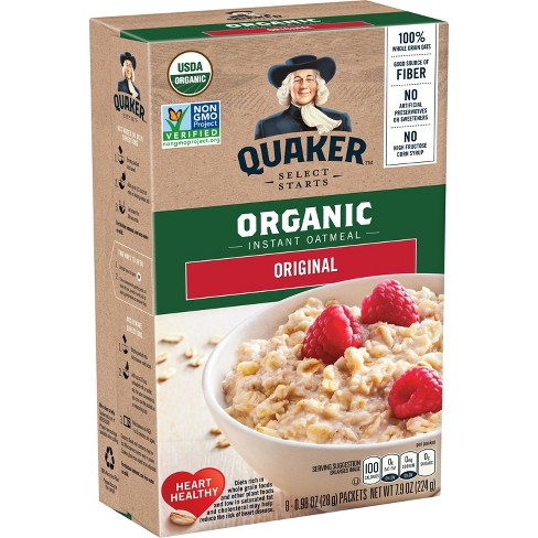 Quaker Select Starts Organic Instant Oatmeal - 8ct - image 1 of 4