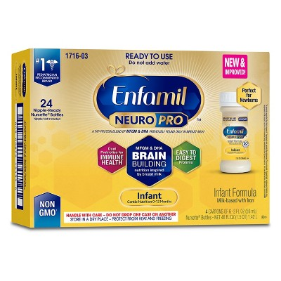 Enfamil NeuroPro Infant Formula, Ready to Use - 24ct (2 fl oz)Bottles