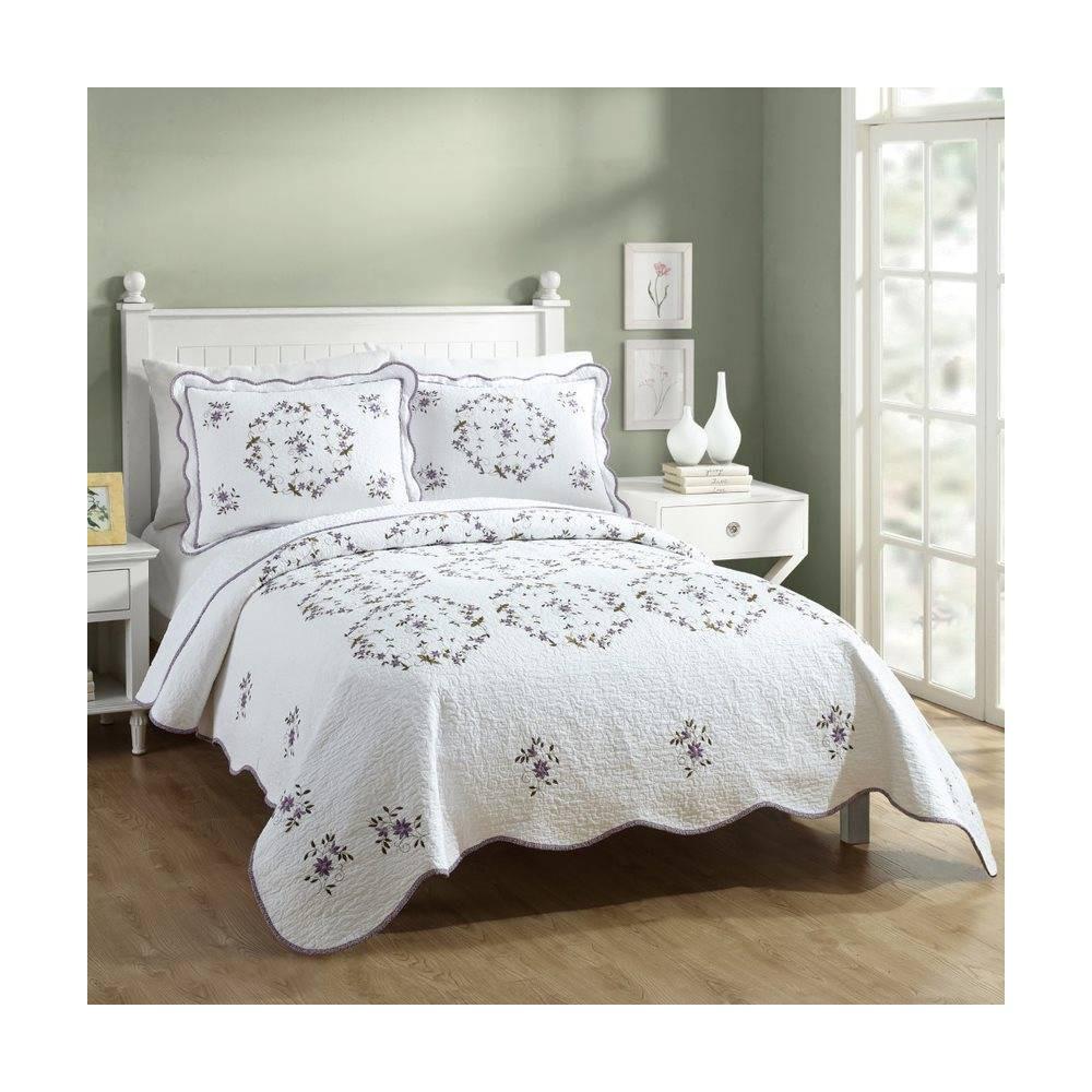 Modern Heirloom Gwen Quilt Set White Lavender