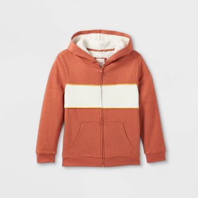 Boys' French Terry Colorblock Hoodie Sweatshirt - Cat & Jack™ Orange