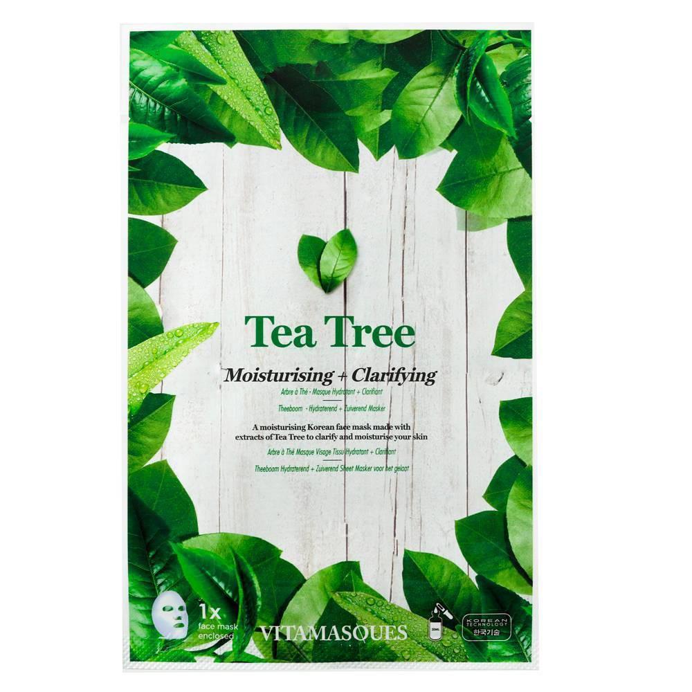 Image of Vitamasques 2 in 1 Tea Tree Sheet Mask - 0.68 fl oz