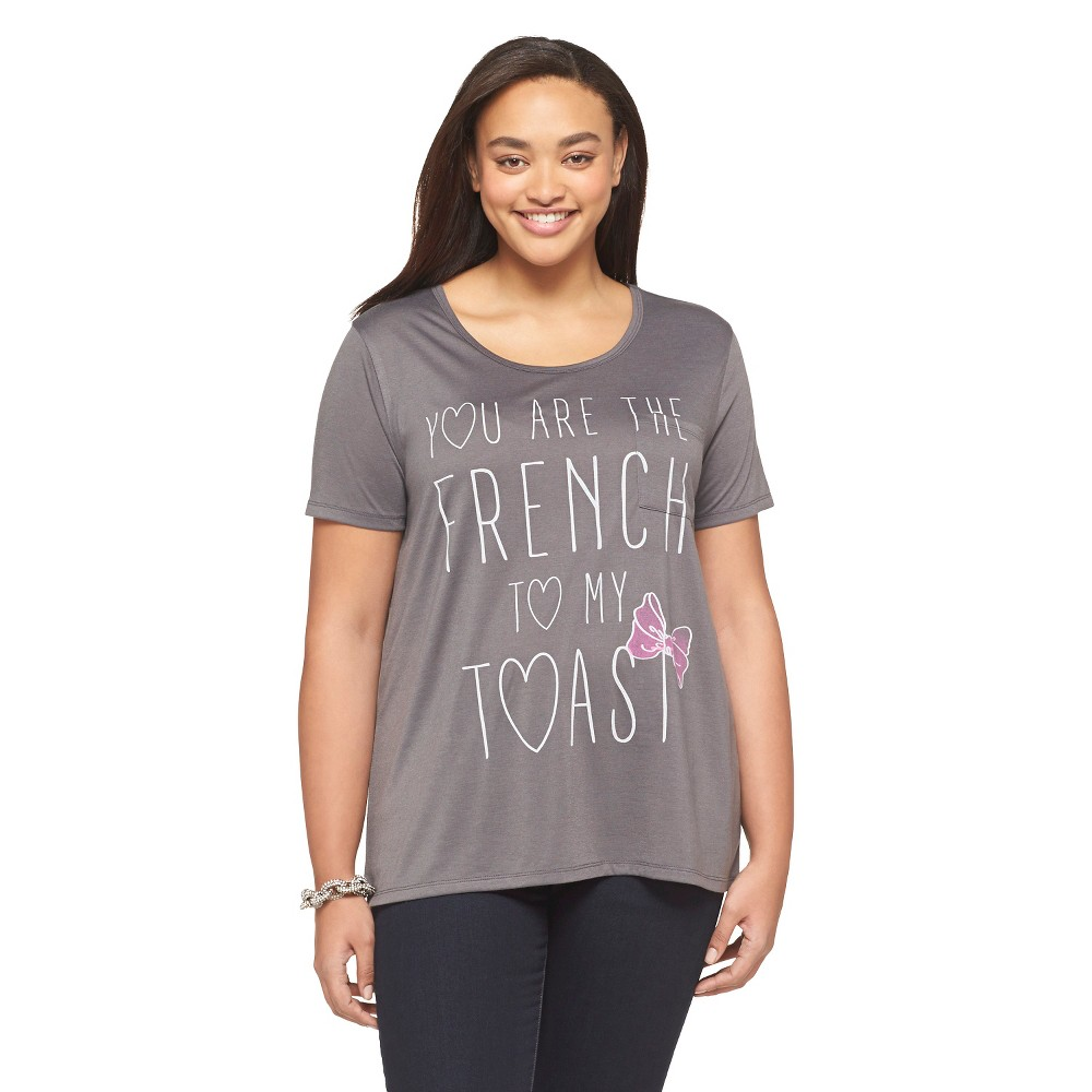 Women's License Plus Size French Toast Gray T-Shirt 3X, Black Vintage