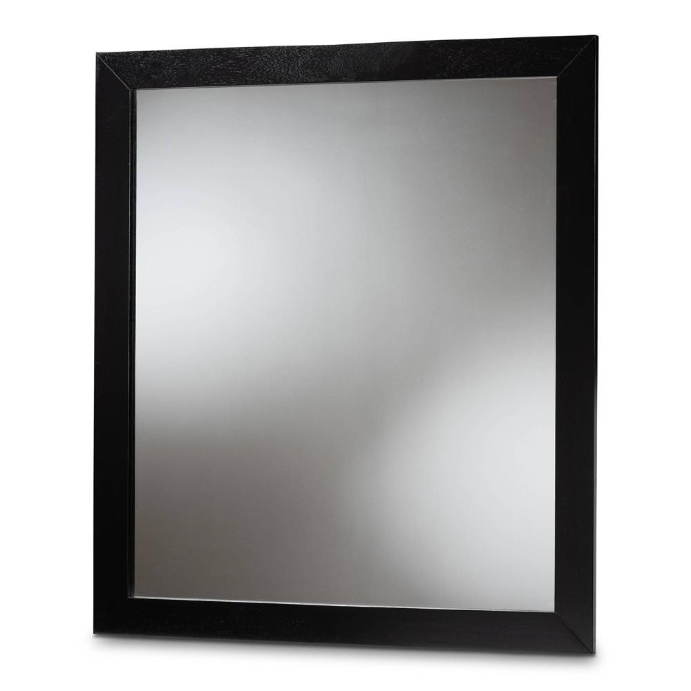 Image of Arly Wood Dresser Mirror Black - Baxton Studio