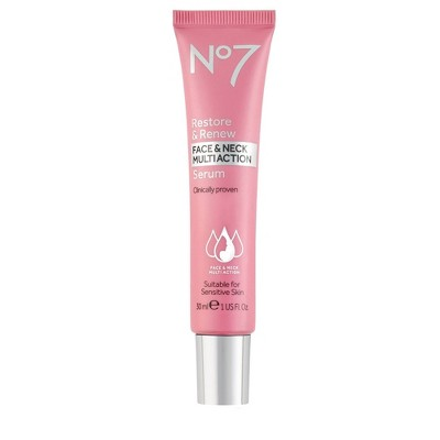 No7 Restore & Renew Face & Neck Multi Action Serum - 1 fl oz
