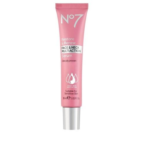 No7 Restore & Renew Face & Neck Multi Action Serum - 1 fl oz - image 1 of 4