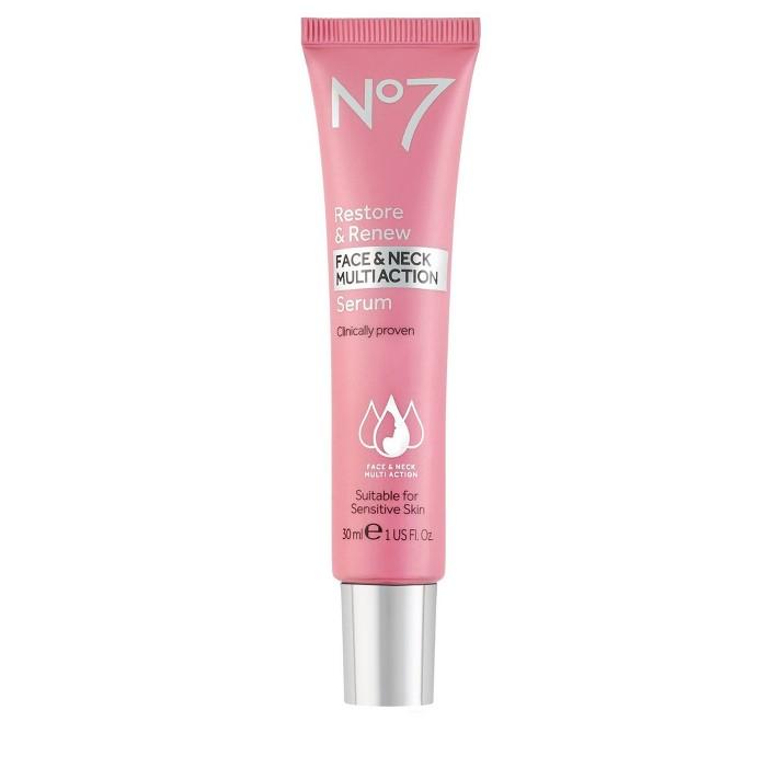 No7 Restore & Renew Face & Neck Multi Action Serum - 1 Fl Oz : Target