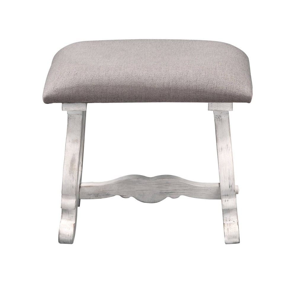 Image of 2pk Orchard Park Accent Stool White - Treasure Trove