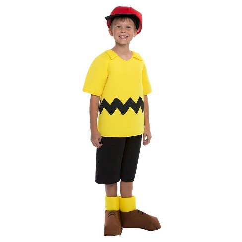 Boys Peanuts Charlie Brown Deluxe Kids Costume - image 1 of 1