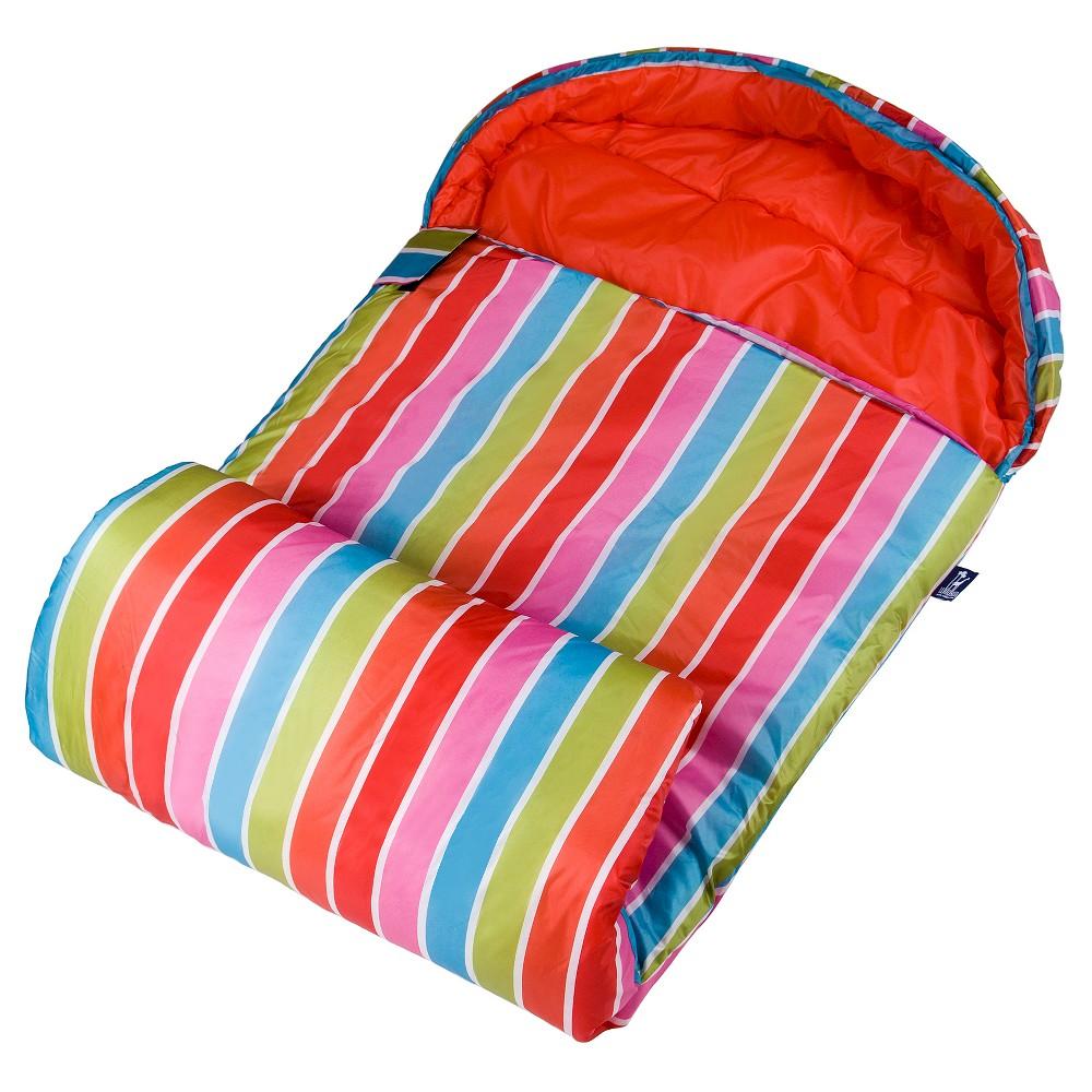 WildKin Bright Stripes Stay Warm 30 Degree Sleeping Bag, Pink