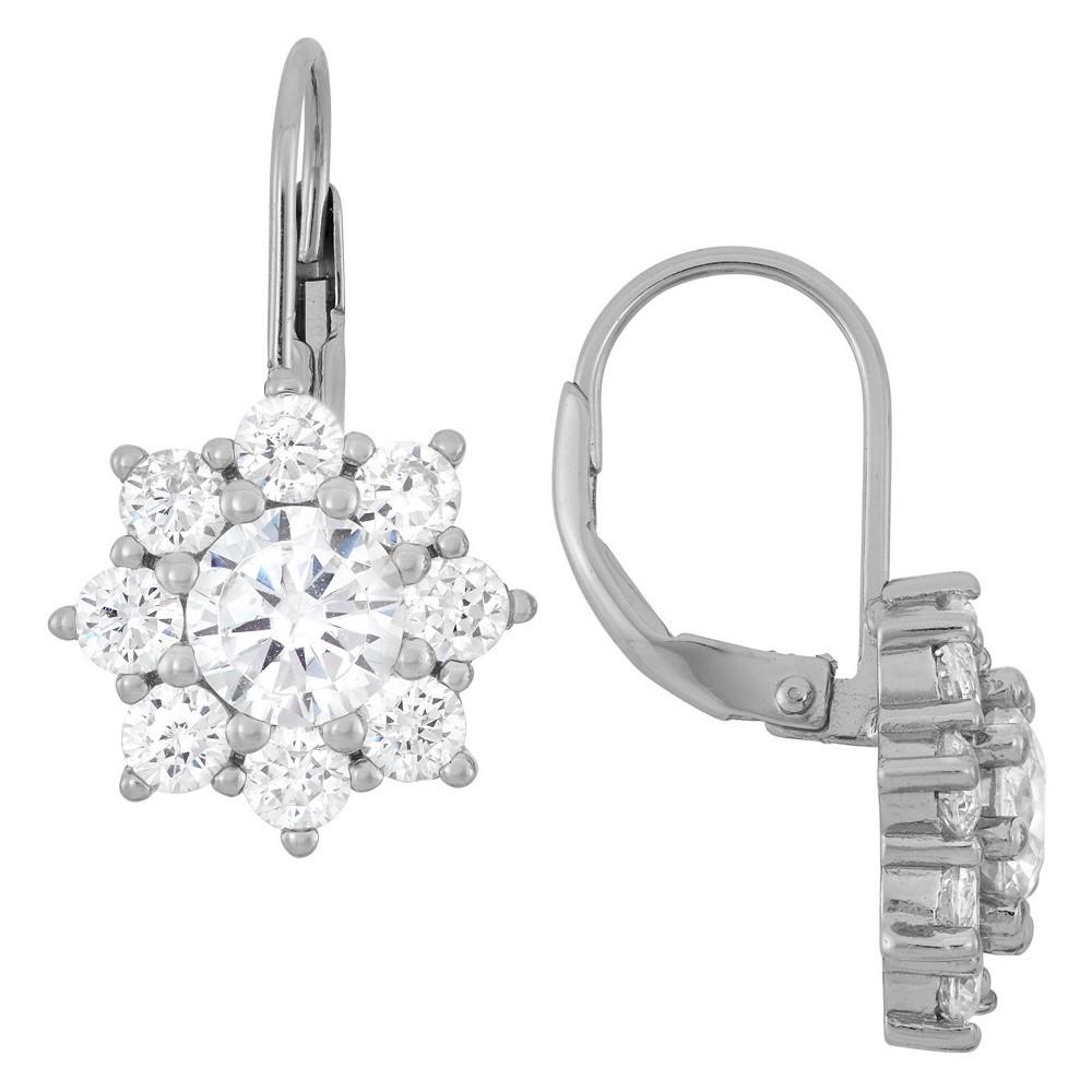 Best Sterling Silver Round-cut Snowflake CZ Earrings