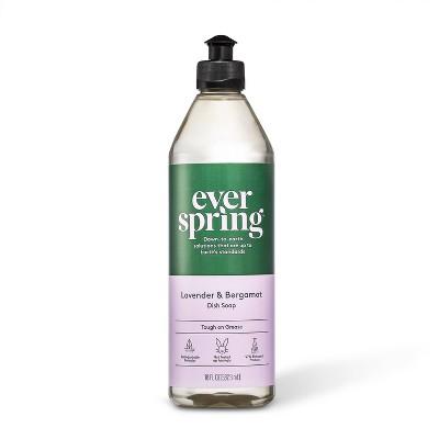 Lavender & Bergamot Liquid Dish Soap - 18 fl oz - Everspring™