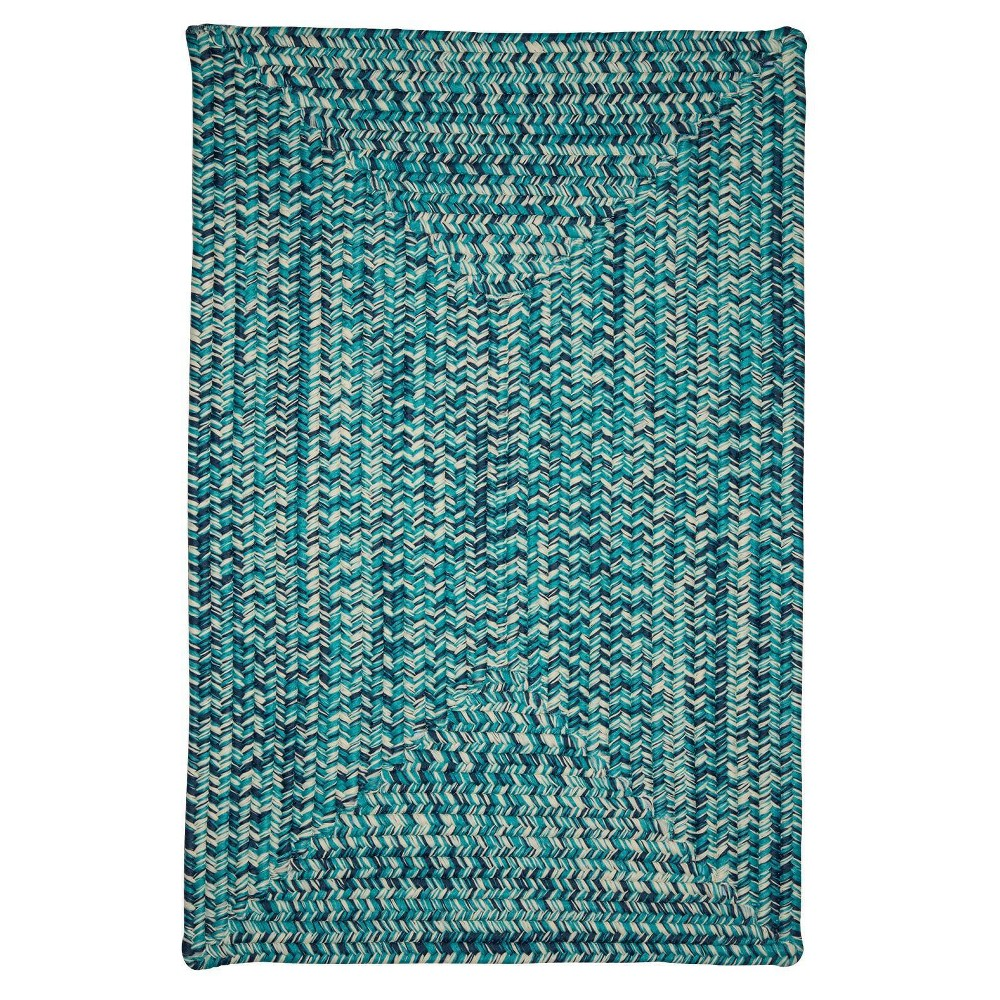 Island Tweed Braided Area Rug Teal