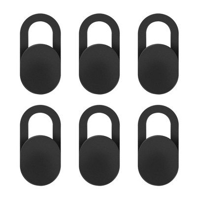 INSTEN - 6 pack Webcam Cover Ultra Thin Adhesive, Slide Cap, Protect Lens and Privacy, Compatible with Laptop Tablet iPhone iPad, Oval, Black