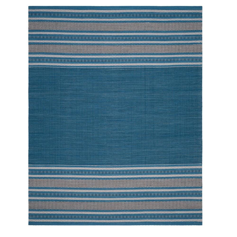 Blue/Gray Stripe Woven Area Rug 8'X10' - Safavieh, Bluengray