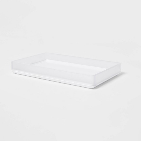 Bathroom Tray Frosted - Room Essentials™ - image 1 of 4