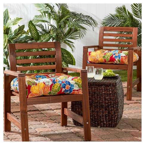 Set Of 2 Outdoor Chair Cushions - Aloha Red - Greendale Home Fashions :  Target - Set Of 2 Outdoor Chair Cushions - Aloha Red - Greendale Home