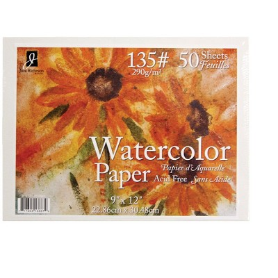 Jack Richeson Watercolor Paper, 9 x 12 Inches, 135 lb, 50 sheets