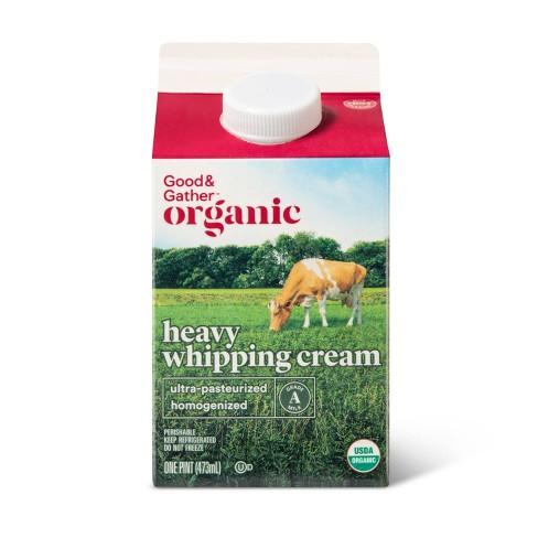 Organic Heavy Whipping Cream 1pt Good Gather Target