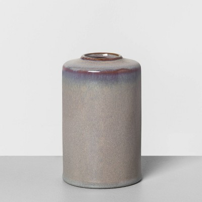 "6"" Ceramic Vase Jet Gray - Hearth & Hand™ with Magnolia"