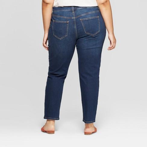 6fd6798addd Women s Plus Size Cropped Girlfriend Jeans - Universal Thread™ Dark Wash    Target