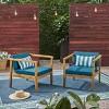 Newbury 2pk Acacia Club Chairs - Christopher Knight Home - image 2 of 4
