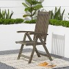Renaissance Outdoor Patio Hand-Scraped Wood 5-Position Reclining Chair - image 3 of 4