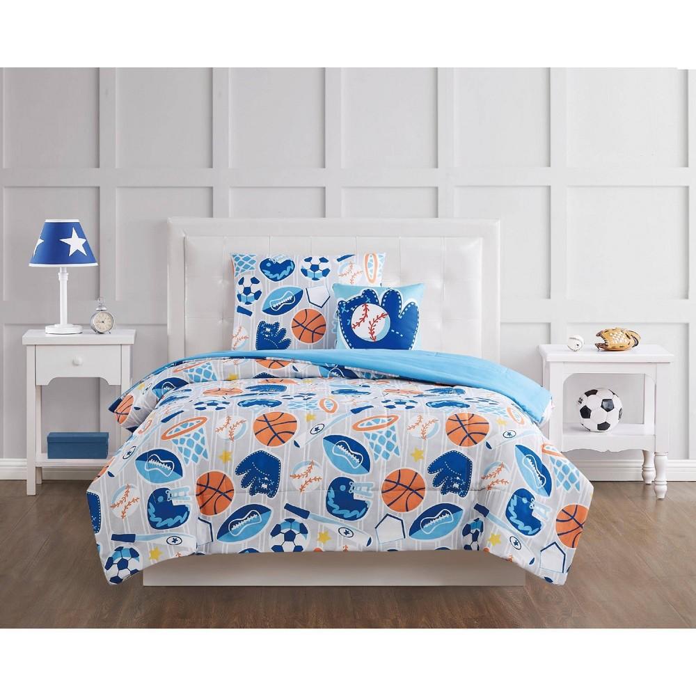 Image of Full 4pc All Star Comforter Set Gray - My World