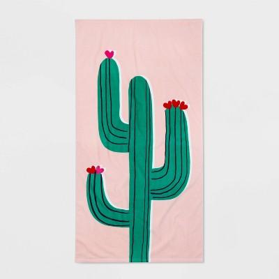 Cactus Icon Printed Beach Towel - Sun Squad™