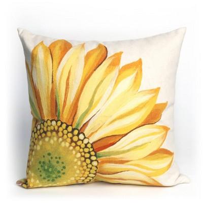 Oversize Sunflower Throw Pillow Yellow - Liora Manne