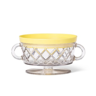 12oz Plastic Bowl with Yellow Lid Set - Philippe Starck for Target