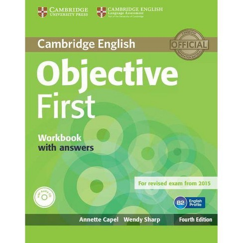 Objective First Workbook with Answers with Audio CD - 4 Edition by  Annette Capel & Wendy Sharp - image 1 of 1