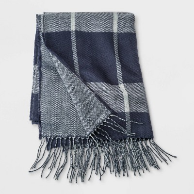 Men's Woven Scarf - Goodfellow & Co™ Gray/Navy One Size
