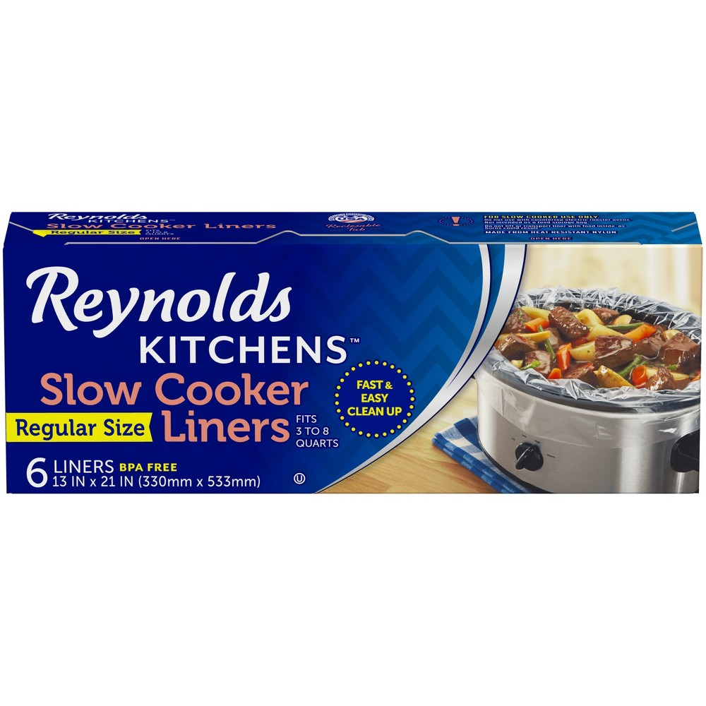 Reynolds Kitchens Slow Cooker Liners - 6sq ft, Clear