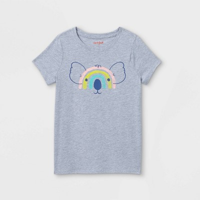 Girls' Rainbow Koala Graphic Short Sleeve T-Shirt - Cat & Jack™ Gray
