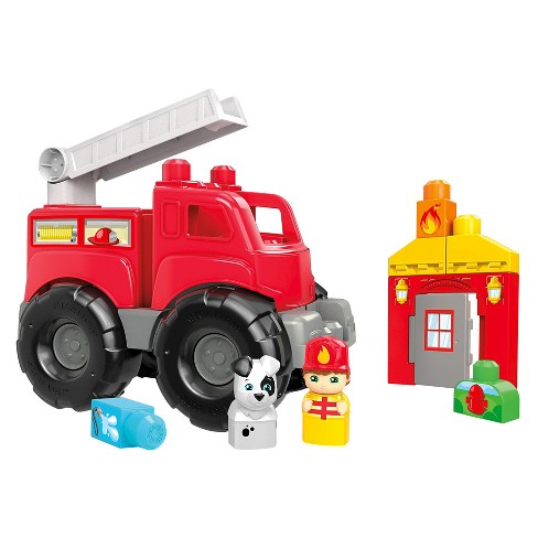 mega bloks fire truck rescue building set target