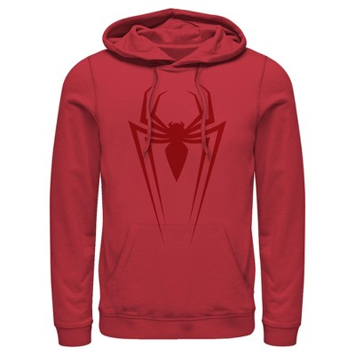Men's Marvel Spider-Man Icon Badge Pull Over Hoodie