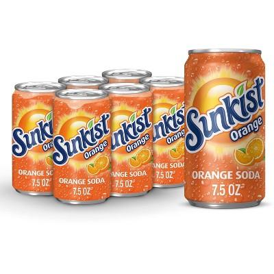 Sunkist Orange Soda - 6pk/7.5 fl oz Cans