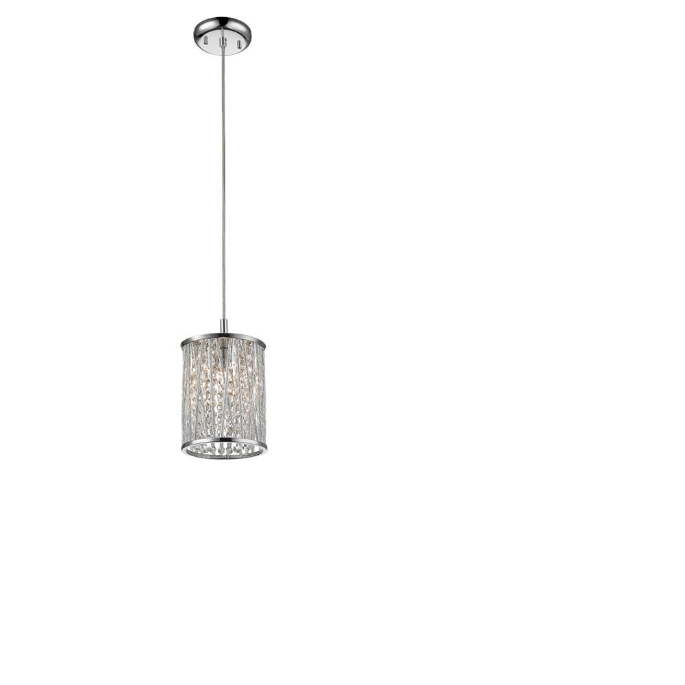 Mini Pendant with Chrome Glass Ceiling Lights - Z-Lite