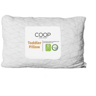 Coop Home Goods The Toddler Adjustable Pillow- Greenguard Gold Certified