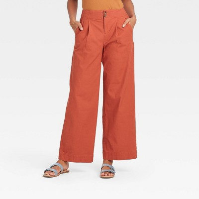 Women's High-Rise Pleat Front Wide Leg Trousers - A New Day™