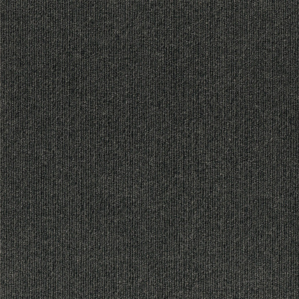 16pk Rib Carpet Tiles Black