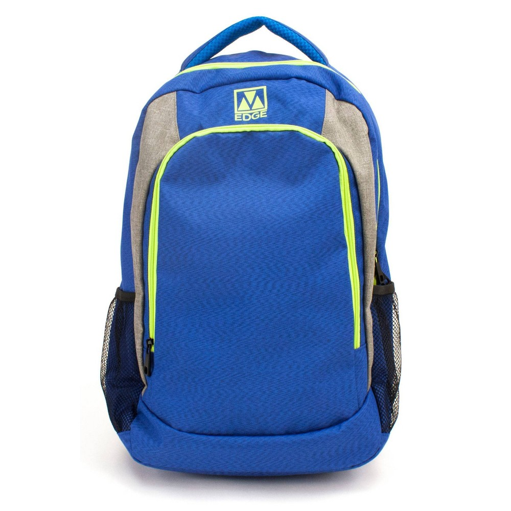 "Image of ""M-Edge 21"""" Relay Backpack with Built-in 6000 mAh Portable Charger - Blue, Neon Blue"""