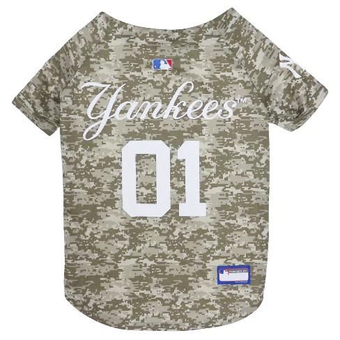 New York Yankees Pets First Camo Pet Baseball Jersey - Camo XL   Target 988d7e789fe