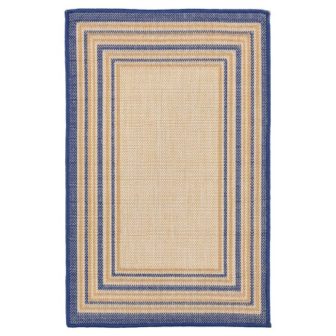 Liora Manne Terrace Multi Border Indoor/Outdoor Woven Rug - image 1 of 3