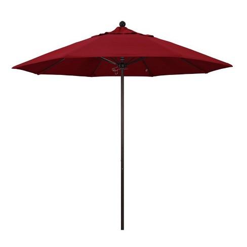 Venture 9' Bronze Market Umbrella in Red - California Umbrella - image 1 of 1
