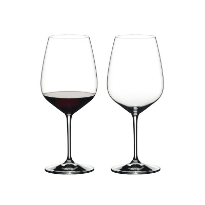 Riedel 6409/0 Heart to Heart Crystal Dishwasher Safe Cabernet Sauvignon Red Wine Glass (2 Pack)