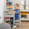Melissa & Doug Wooden Child's Lift-Top Desk and Chair - Gray - image 4 of 4