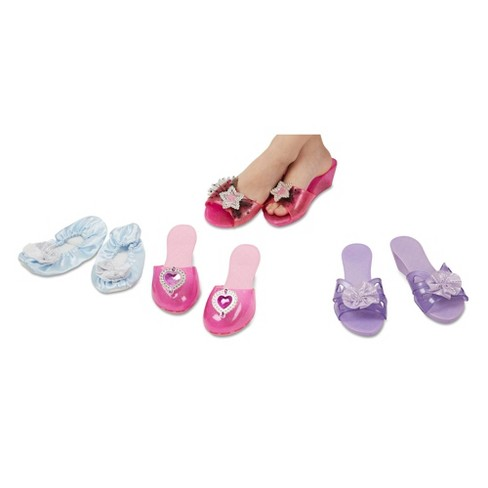 Melissa & Doug Role Play Collection - Step In Style! Dress-Up Shoes Set (4 Pairs) - image 1 of 4